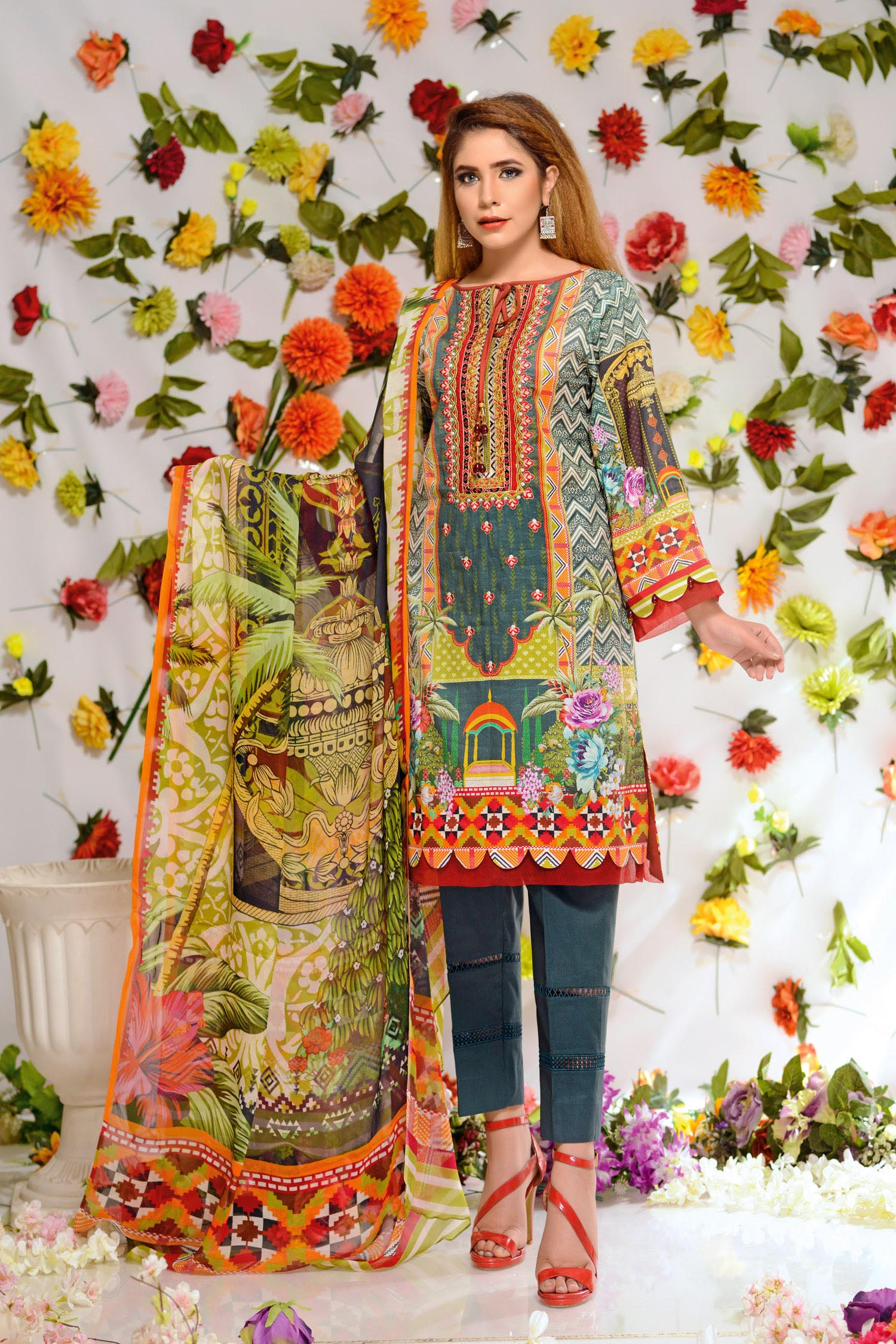 Soraya - Digital Printed and Embroidered Lawn 3PC