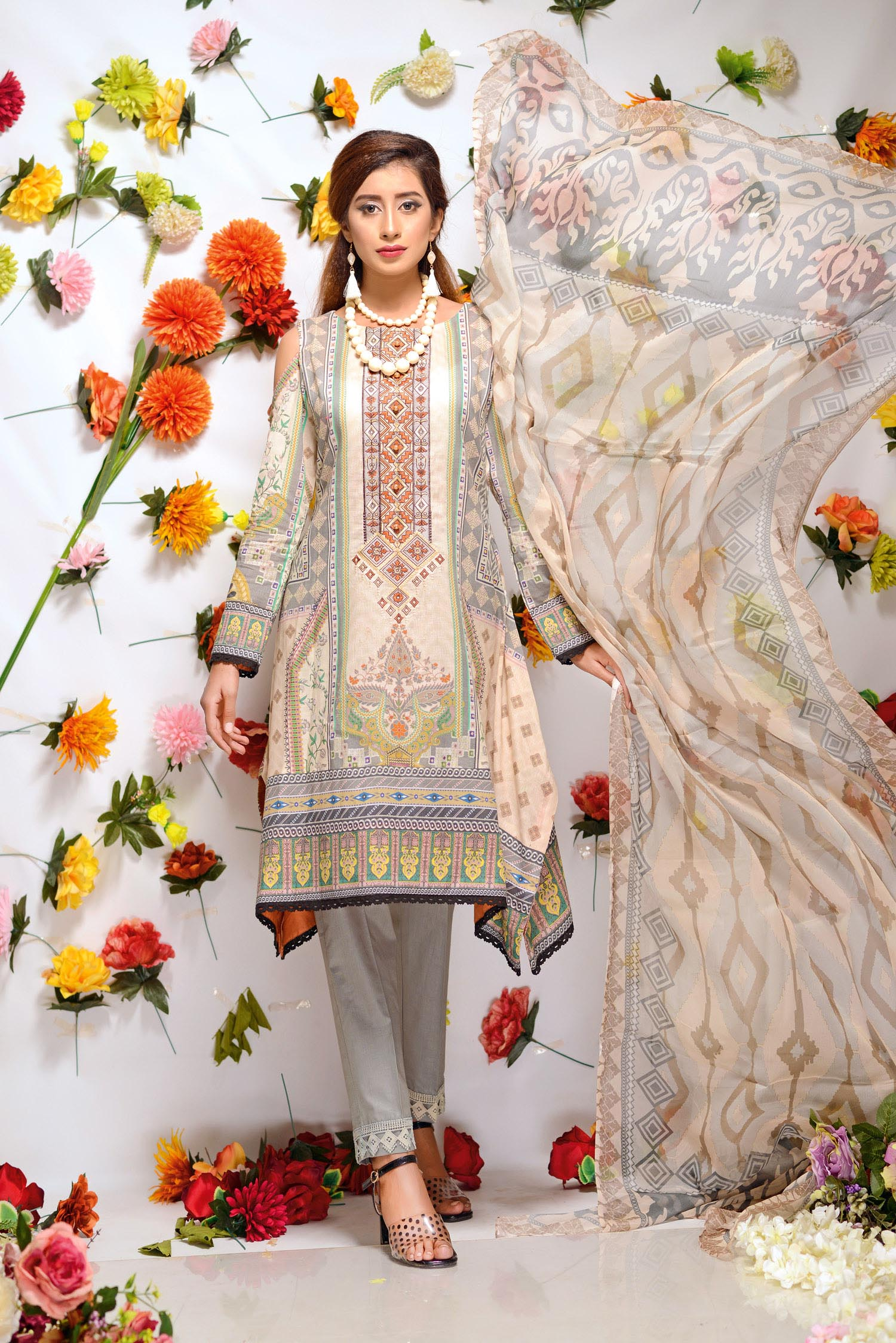 Averly - Digital Printed and Embroidered Lawn 3PC