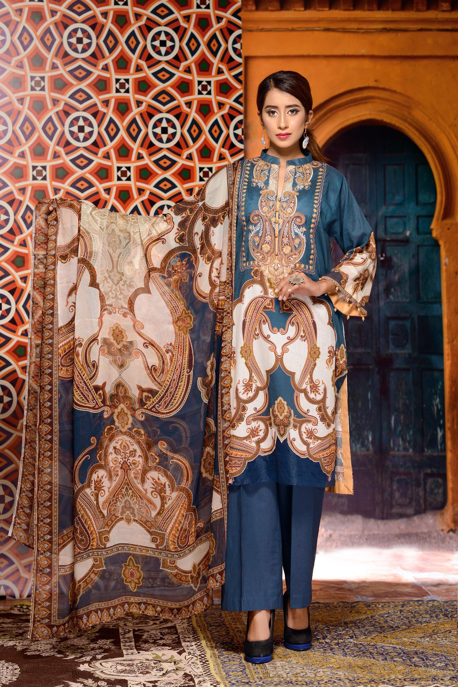Ryuu - Digital Printed and Embroidered Lawn 3PC