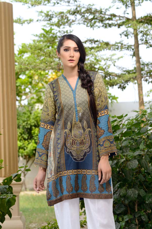 Granite Green - Digital Printed Unstitch Lawn Kurti
