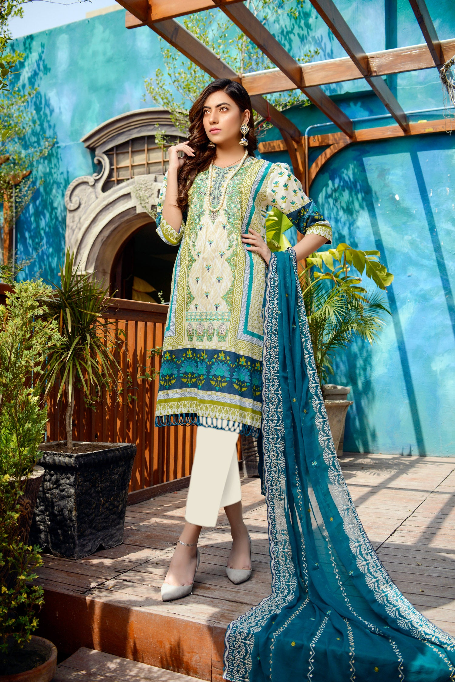 Quarry- Printed and Embroidered Lawn 3PC