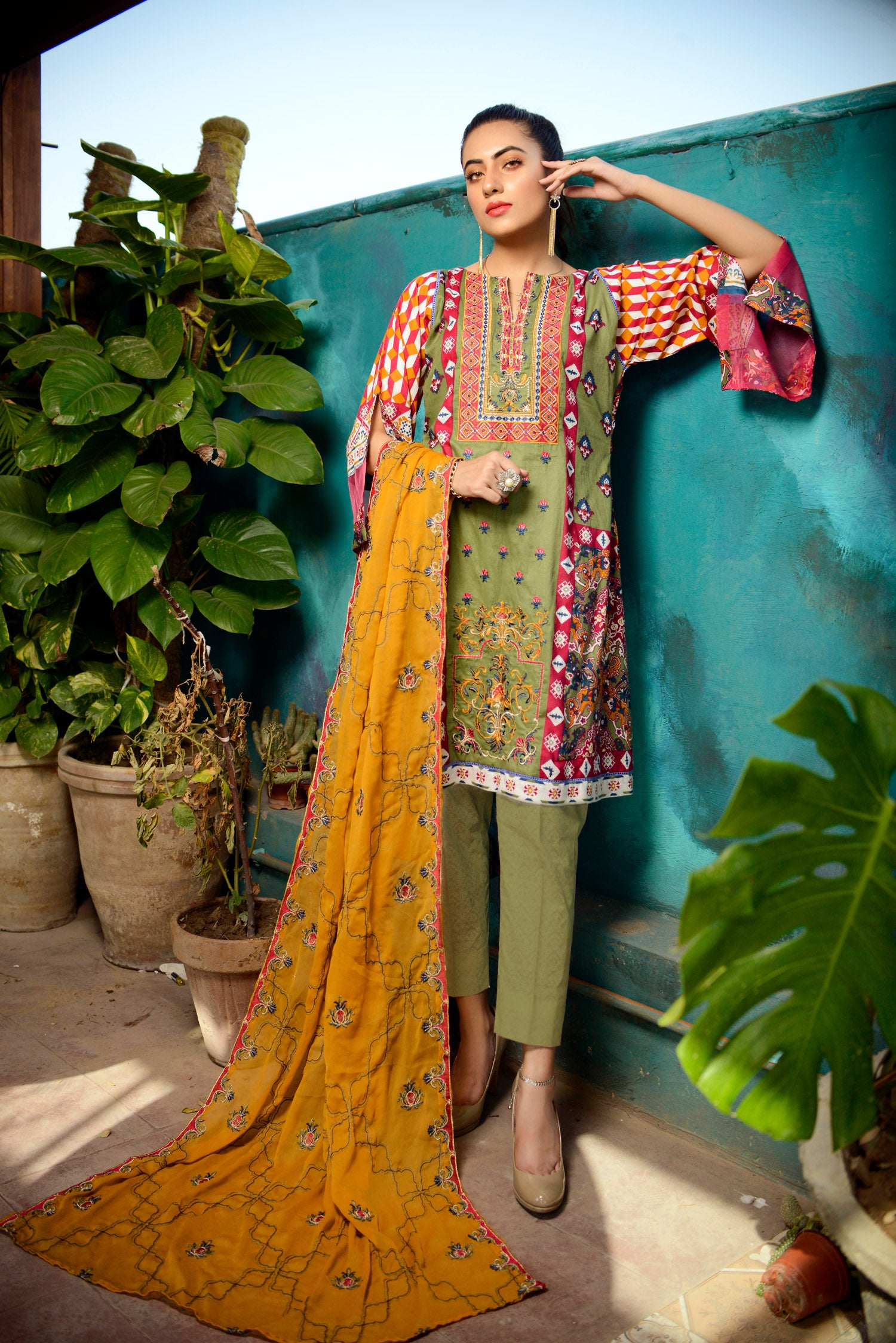 fern - Printed and Embroidered Lawn 3PC