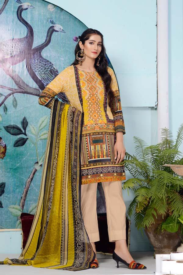 Gold Sand - DIGITAL EMBROIDERED LAWN