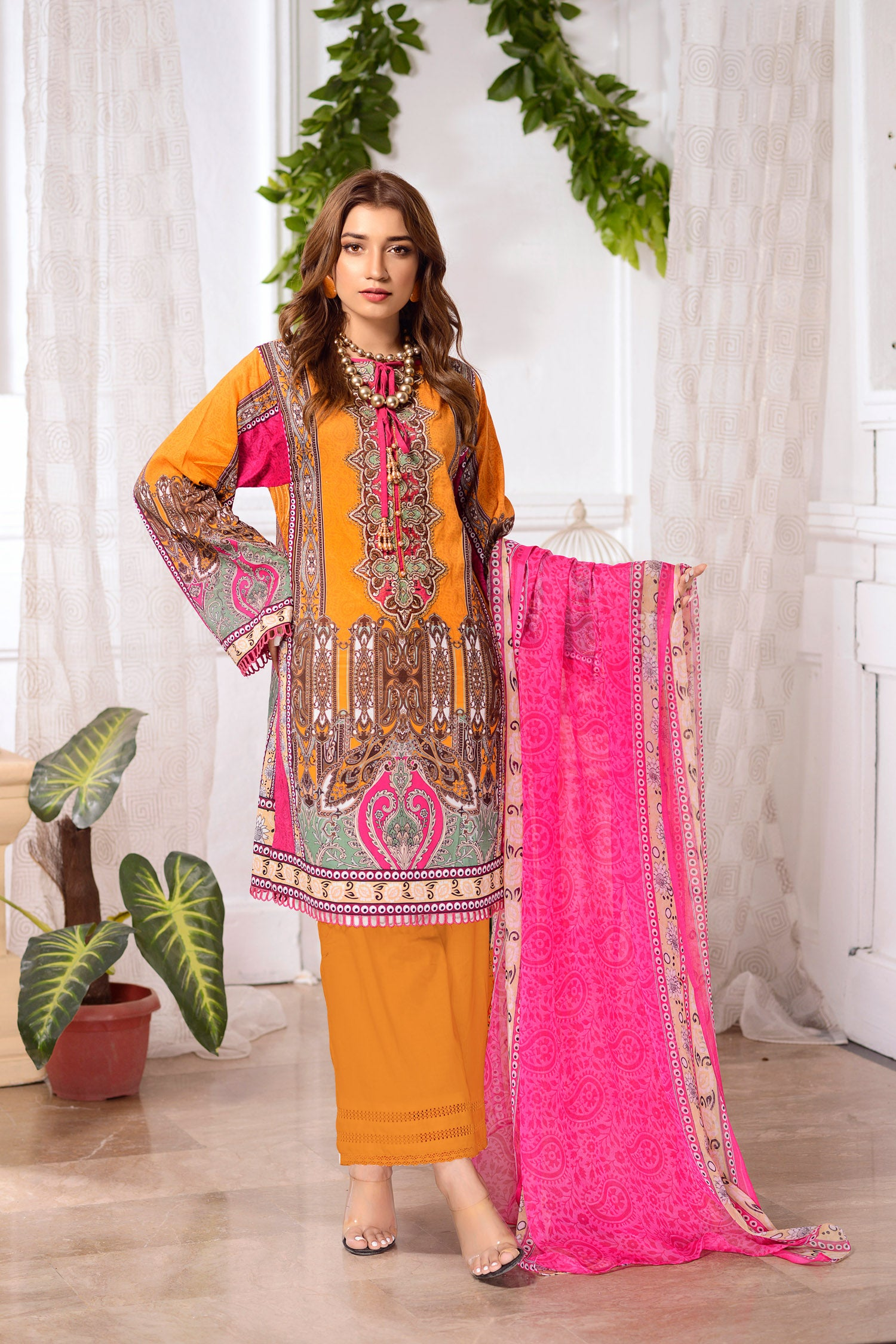 Poppy - DIGITAL PRINTED & EMBROIDERED LAWN 3PC