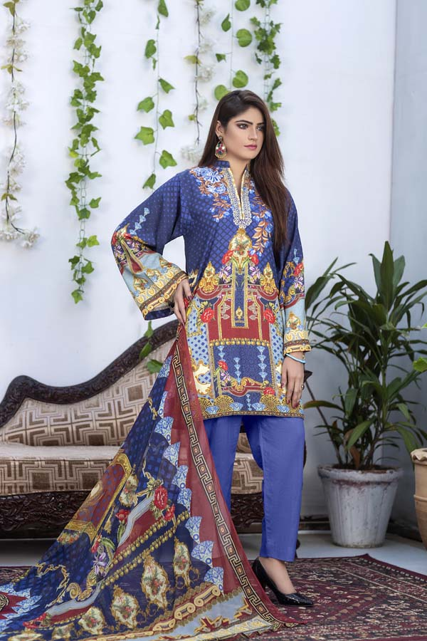 Pierce - Digital Printed & Embroidered Karandi 3PC