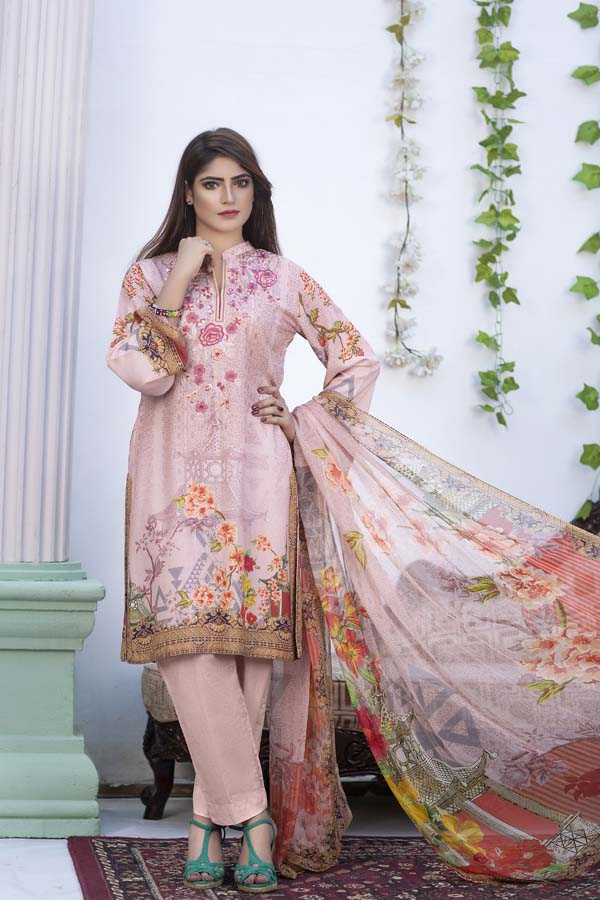 Wren - Digital Printed & Embroidered Karandi 3PC