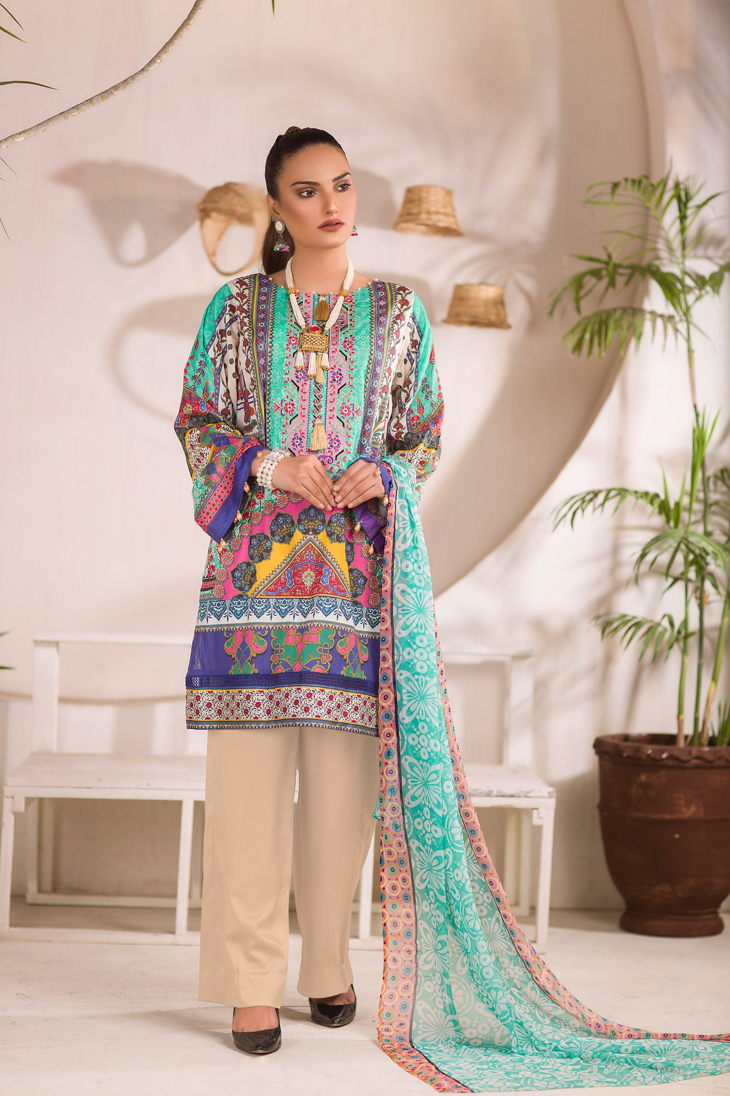 Spangled - DIGITAL PRINTED & EMBROIDERED LAWN 3PC