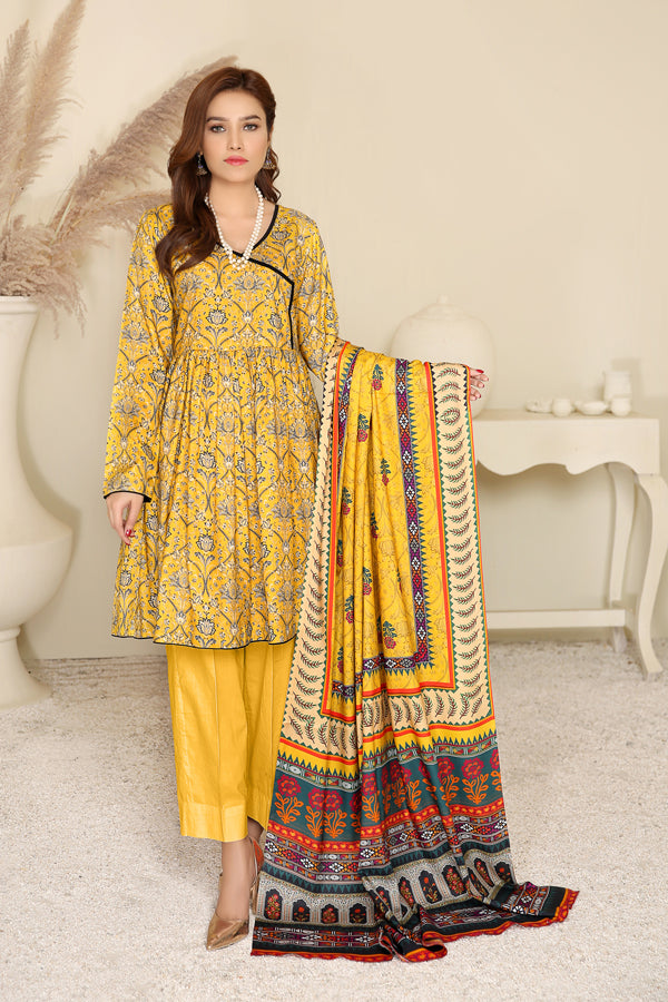 D 10 - Digital Printed Linen 3PC