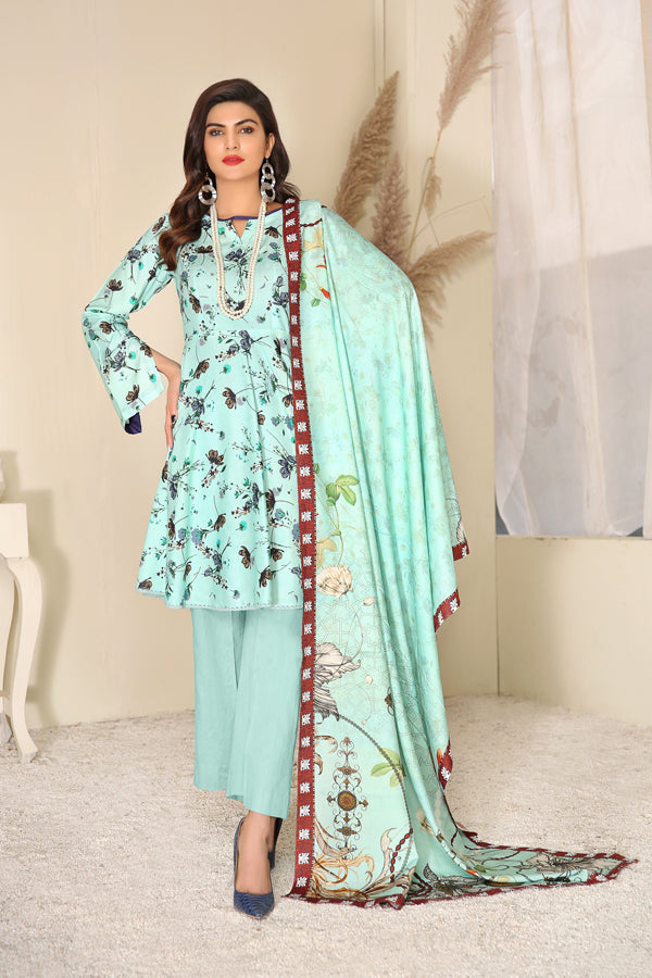 D 17 - Digital Printed Linen 3PC