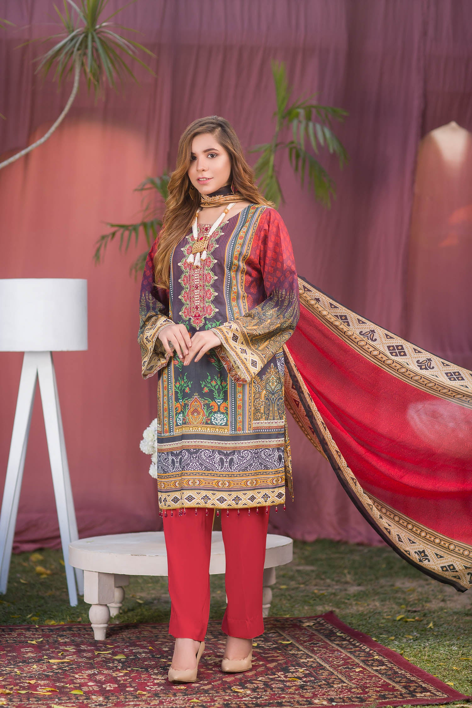 Sage - Digital Printed & Embroidered Lawn 3PC