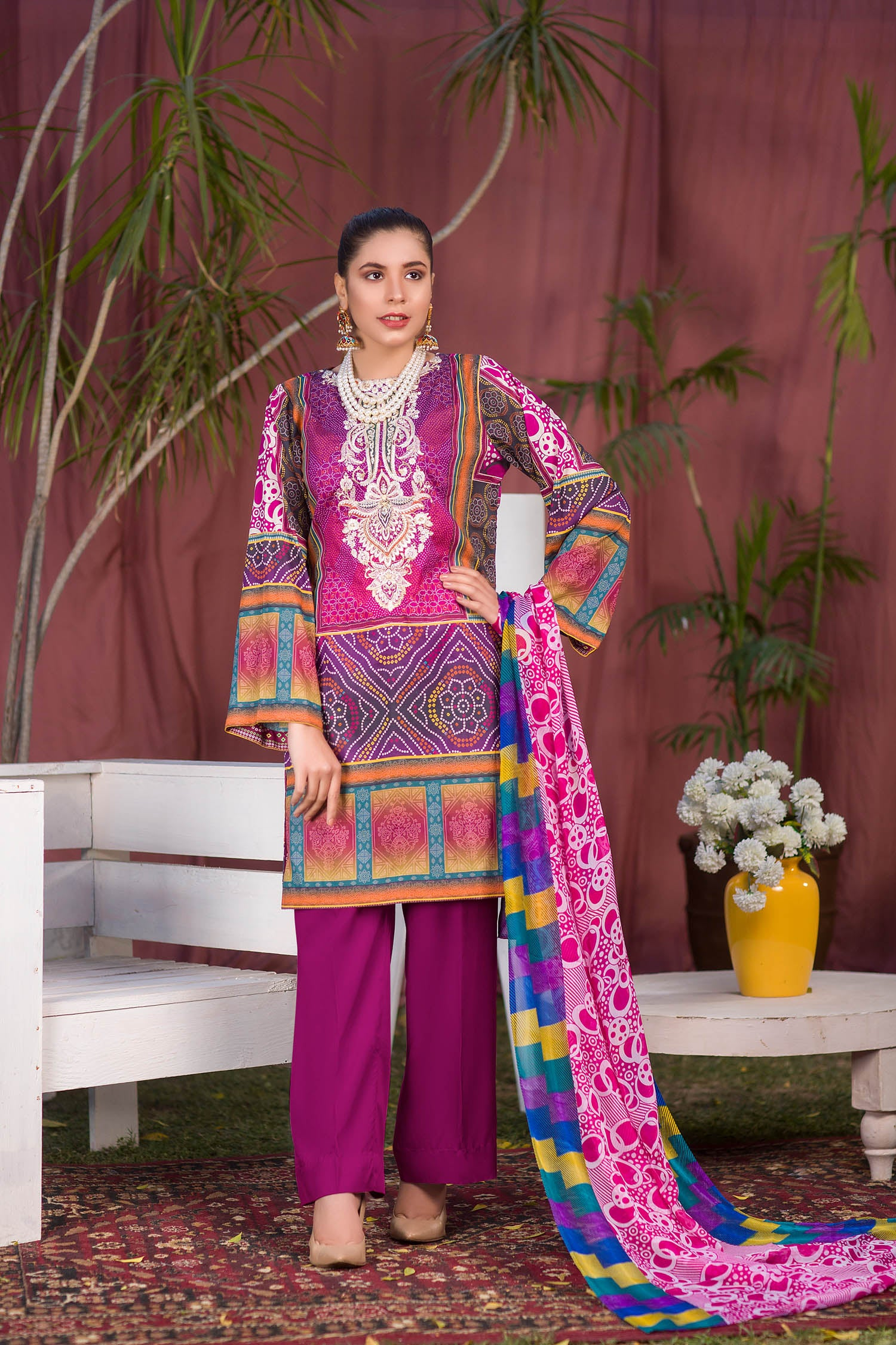 Everly - Digital Printed & Embroidered Lawn 3PC