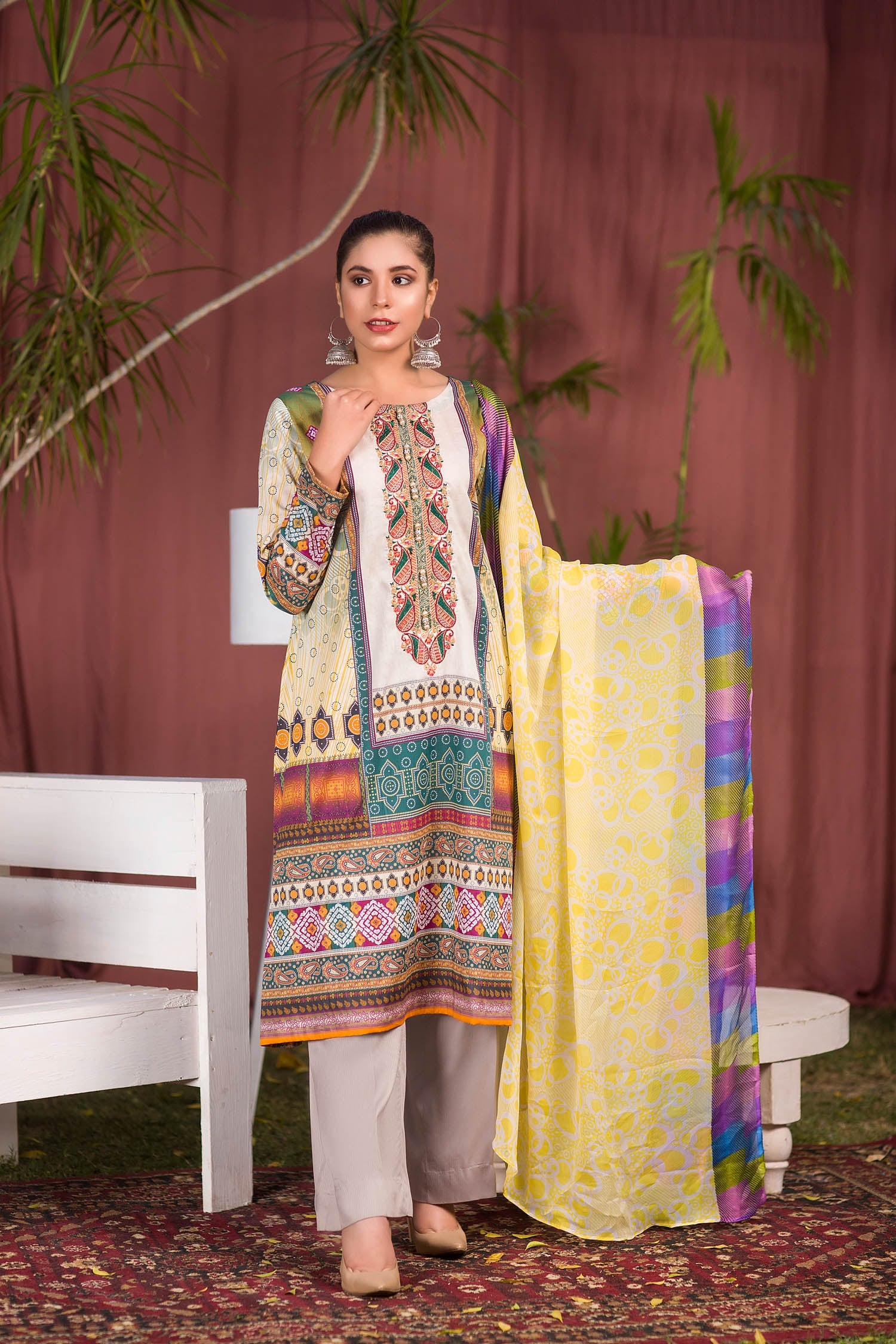 Blaire - Digital Printed & Embroidered Lawn 3PC