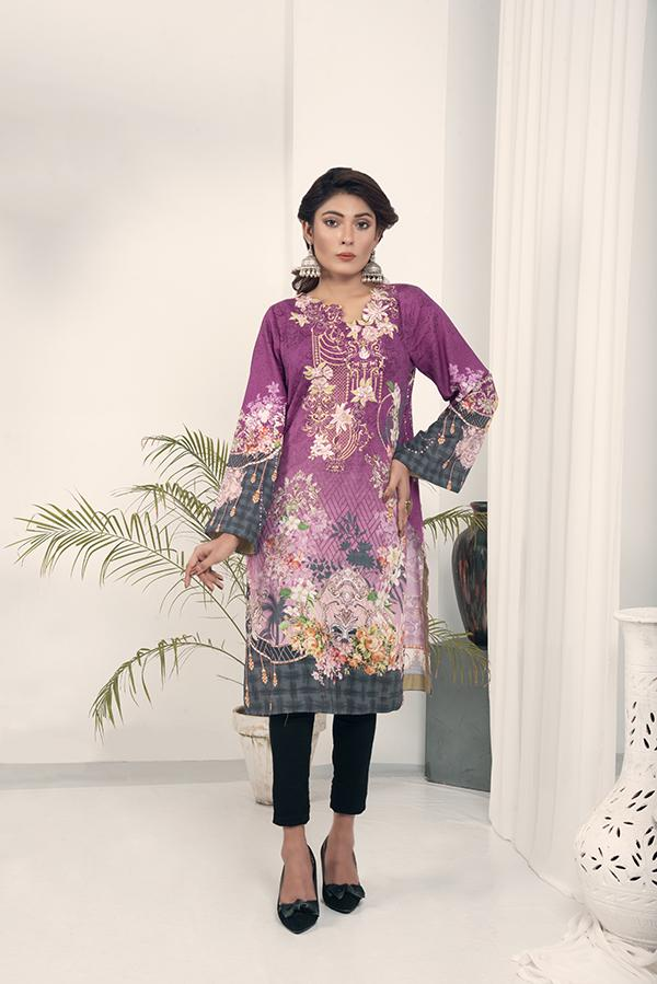Sublime - Embroidered Khaddar Unstitch Kurti