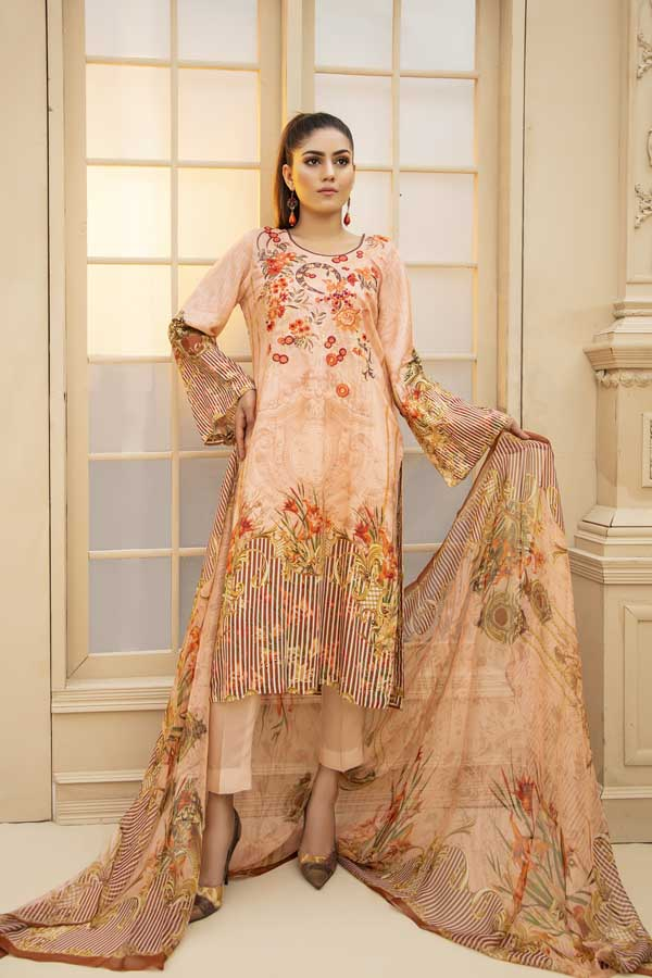 Del Rio - Digital Embroidered Viscose 3 Piece