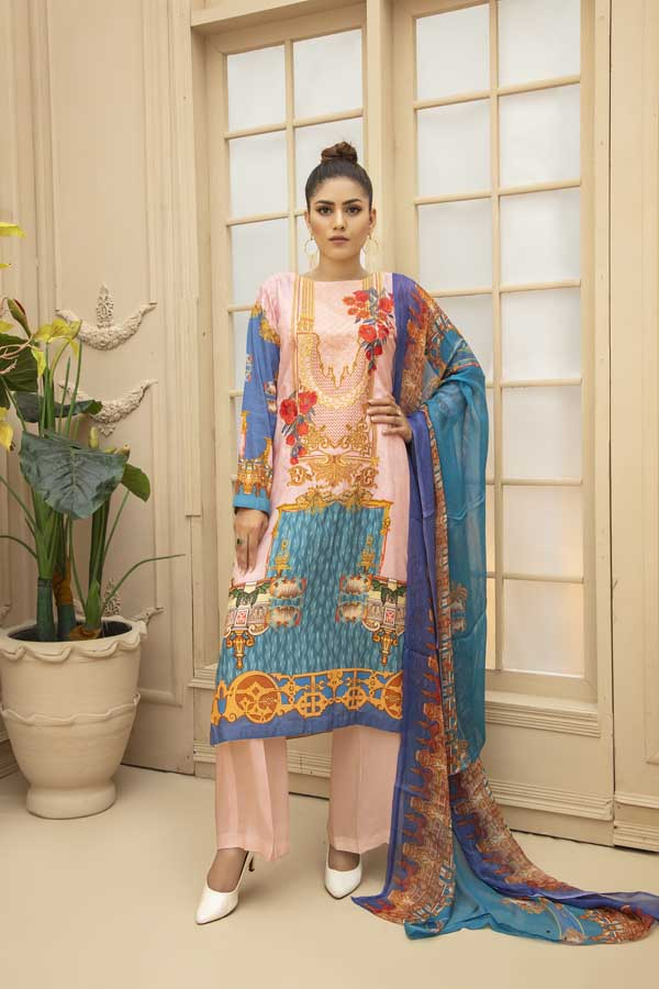 Pippin - Digital Embroidered Viscose 3 Piece