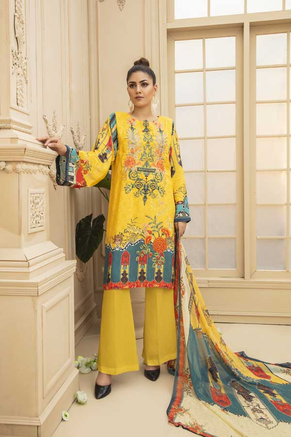 Shalimar - Digital Embroidered Viscose 3 Piece