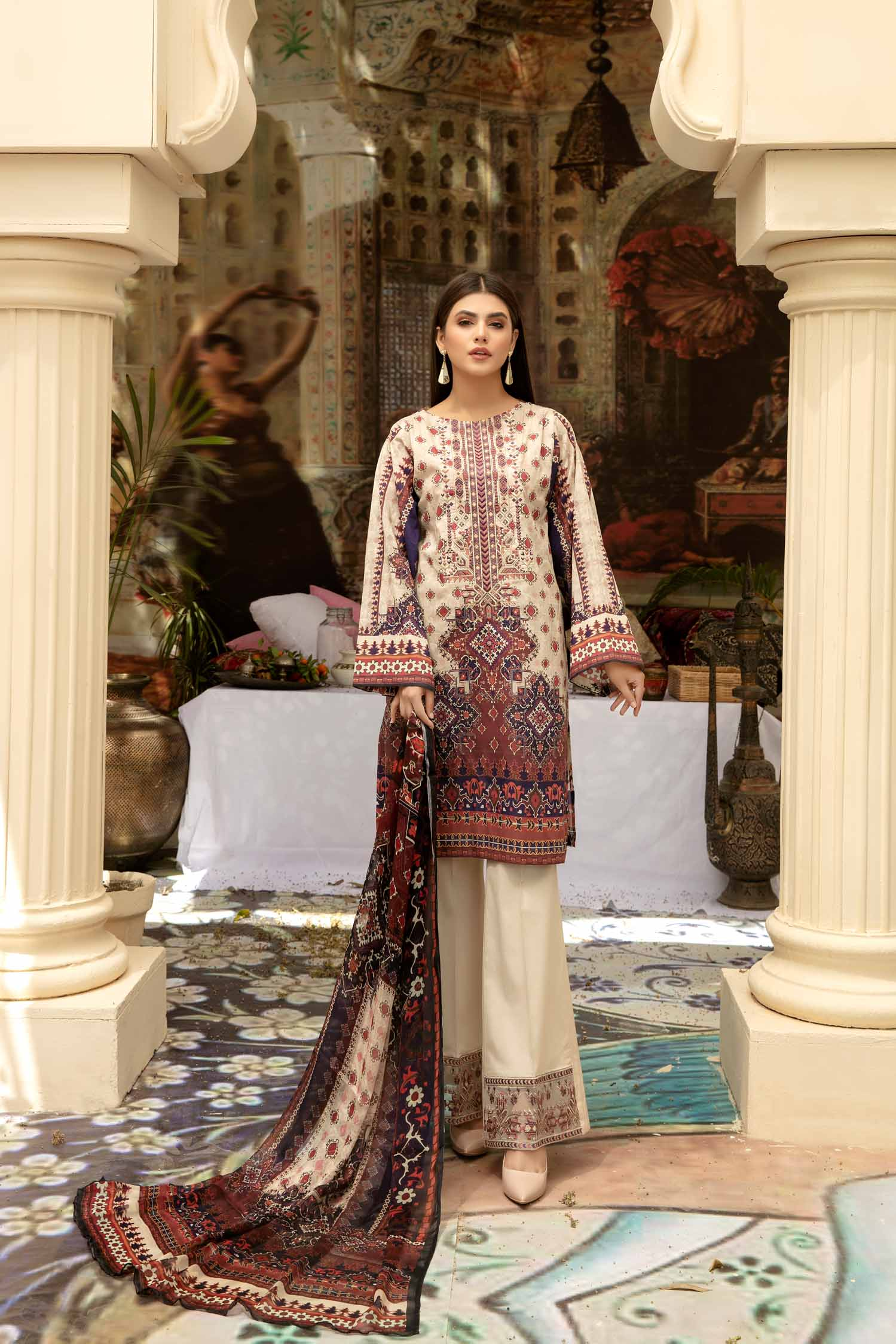 Bezlit - Digital Printed & Embroidered Lawn 3 piece