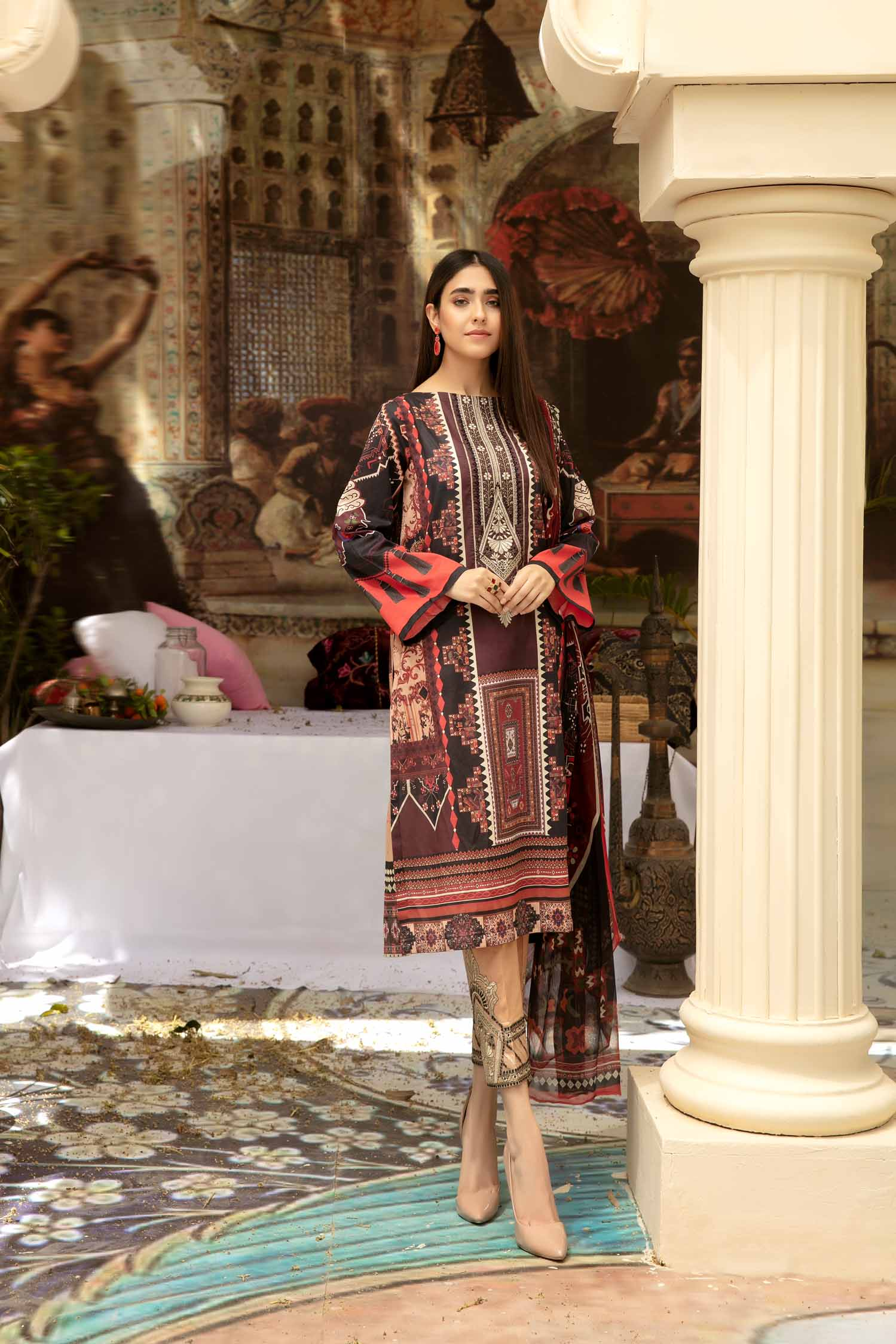 Rich Fill - Digital Printed & Embroidered Lawn 3 piece