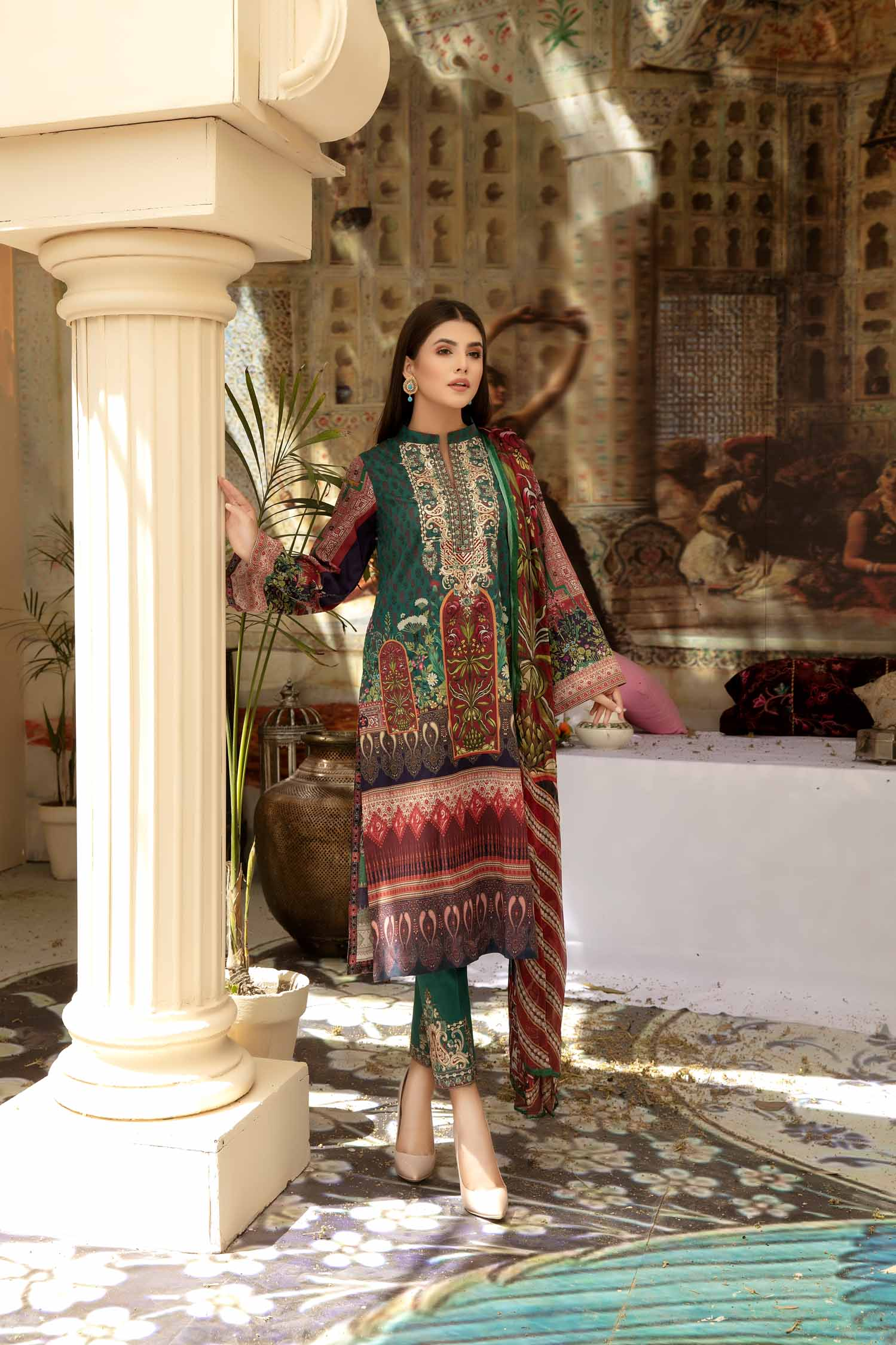 Grolin - Digital Printed & Embroidered Lawn 3 piece