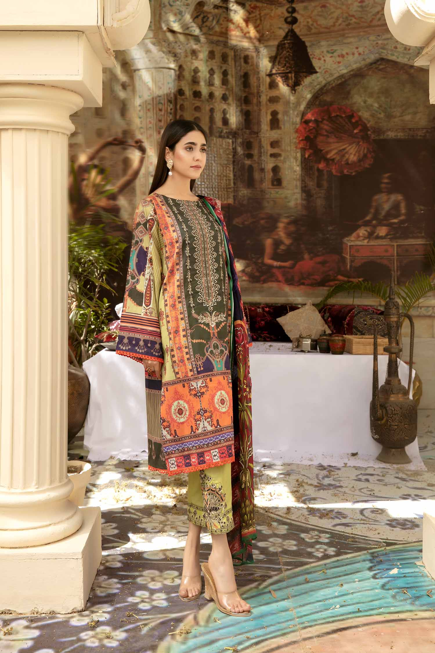 Orchid Joy - Digital Printed & Embroidered Lawn 3 piece