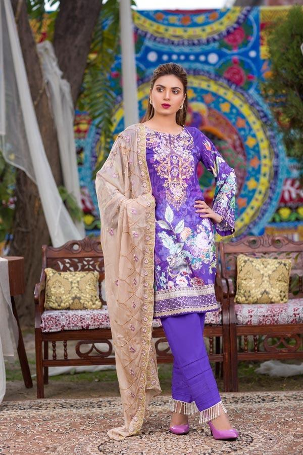Admiral - DIGITAL EMBROIDERED UNSTITCHED LAWN 3 PIECE