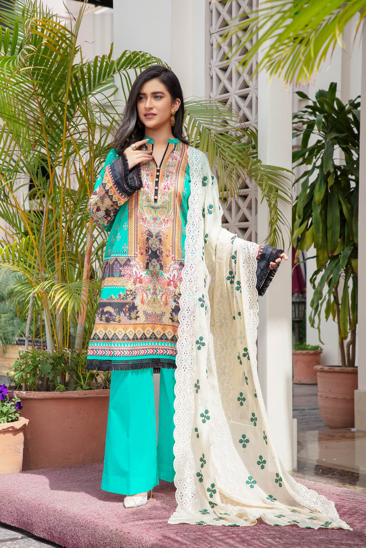 Resence - Digital Printed & Embroidered Lawn