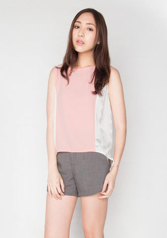 CROSS BACK TOP IN BLUSH LCC TOP 2