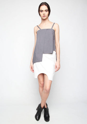Carrè Panel Top in Grey