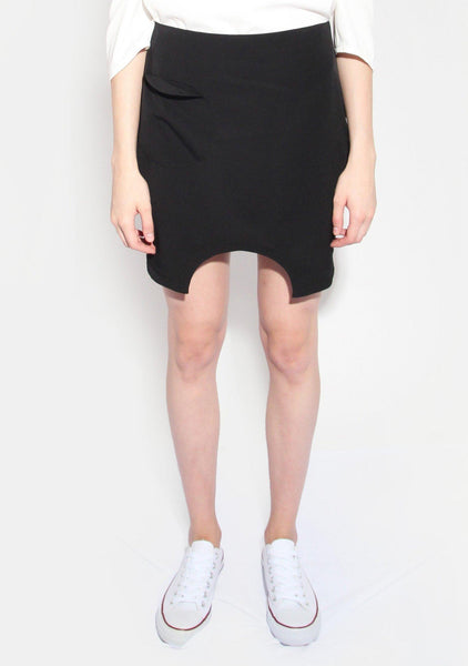 Marquise Black Skirt with Semi-circle Cut Out