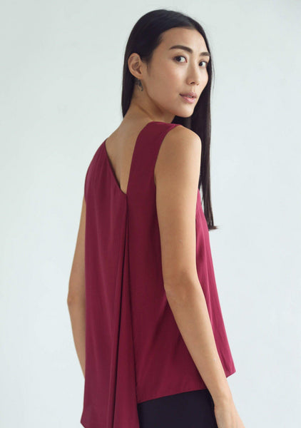 LEONARDA DRAPED BACK TOP - SALIENT LABEL