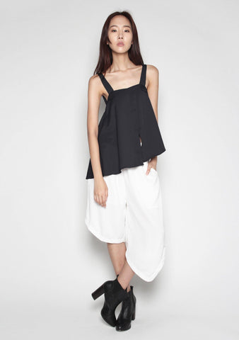 Averie Asymmetric Layered Top in Black