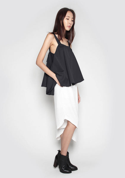 Averie Asymmetric Layered Top in Black - SALIENT LABEL
