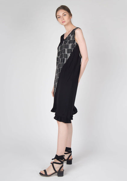 Jourdon Asymmetric Midi Dress - SALIENT LABEL