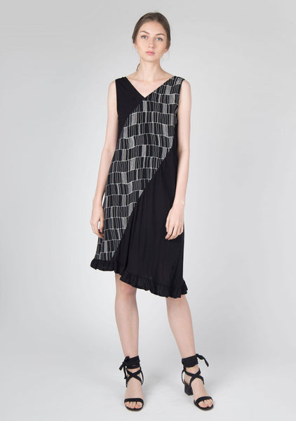 Jourdon Asymmetric Midi Dress