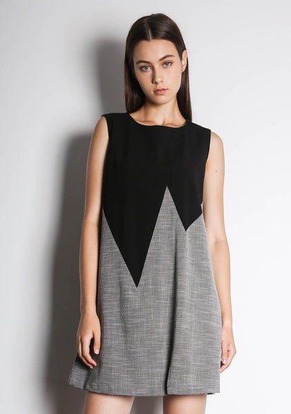 VONNE ANGLED DRESS - MULTI - SALIENT LABEL