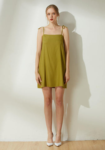 Bhumi Rayon Short Dress - Olive