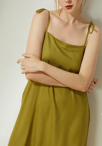 Bhumi Rayon Short Dress - Olive - SALIENT LABEL
