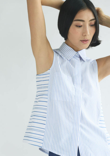 BRIGANTE MULTI STRIPE TOP - SALIENT LABEL