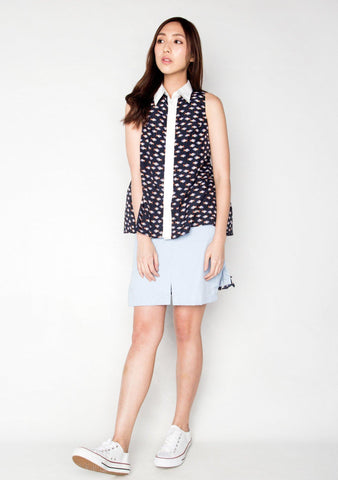 LEAVITT BUTTON-DOWN BLOUSE TOP 2