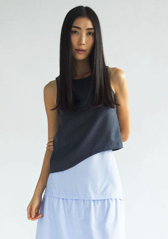 CALA TOP - MULTI (GREY/BLACK) - SALIENT LABEL