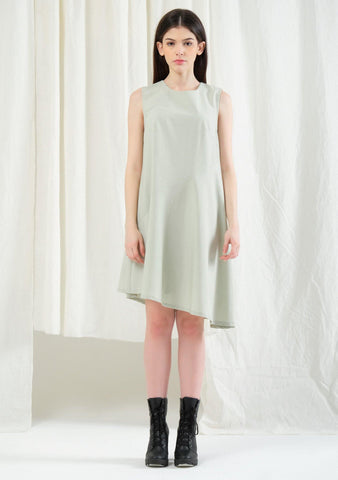 Carson Asymmetric Sleeveless Dress - Laurel