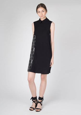 Kari Panel Dress in Black - SALIENT LABEL
