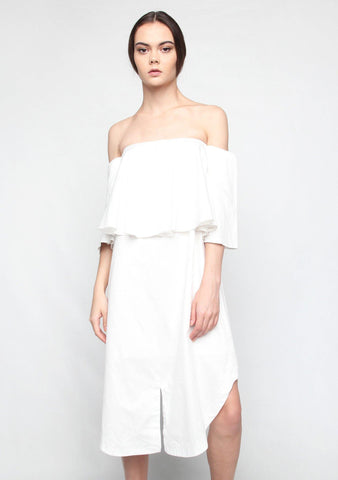Chirico Dress in White - SALIENT LABEL