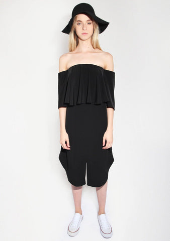 Chirico Off Shoulder Dress in Black - SALIENT LABEL