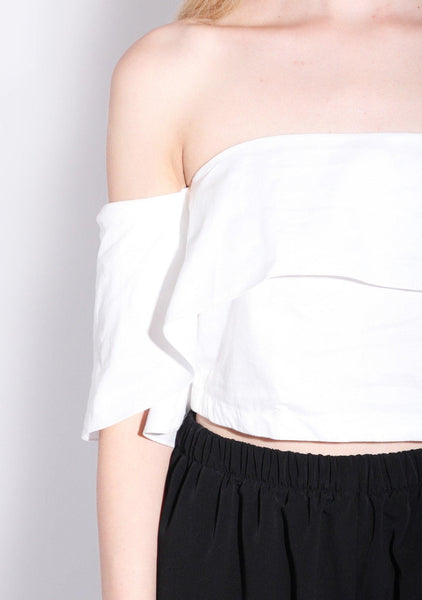 Chirico Off Shoulder Top in Cotton White - SALIENT LABEL