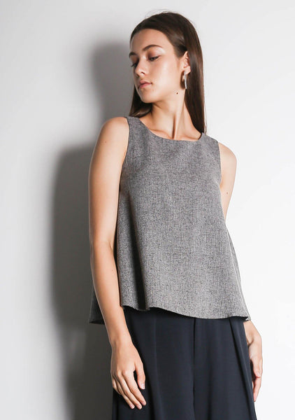 CLEO TOP - MULTI (Grey and Black) - SALIENT LABEL