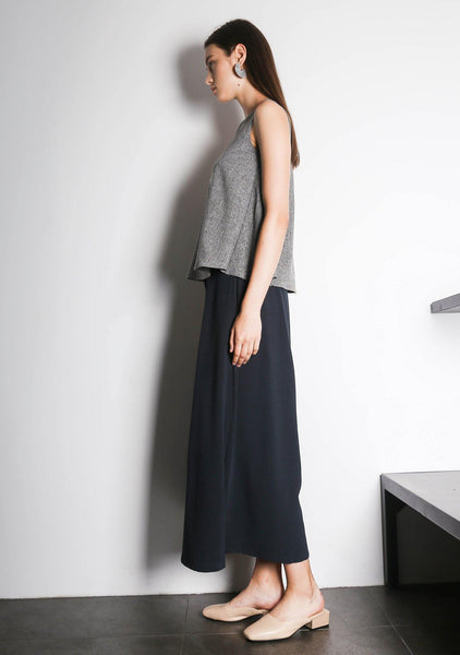 CLEO TOP - GREY/BLACK - SALIENT LABEL