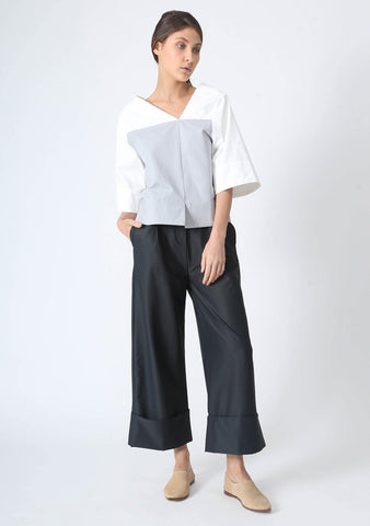 ESSEL ASYMMETRIC BOXY TOP - SALIENT LABEL