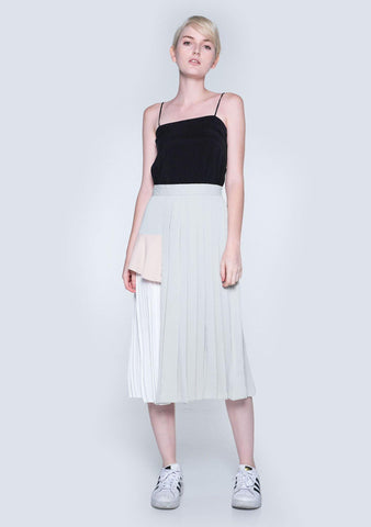 ELKIN PLEATED COLOURBLOCK SKIRT - HUSH
