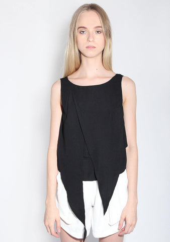 Gramn Baby Silk Top in Black
